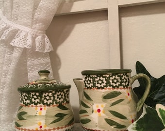 Sugar and Creamer by Temp-tations Old World design, Retired Collectible