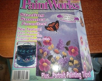 PaintWorks Magazine June 1998 Issue With Intact Pull Out Paper Pattern Sheets