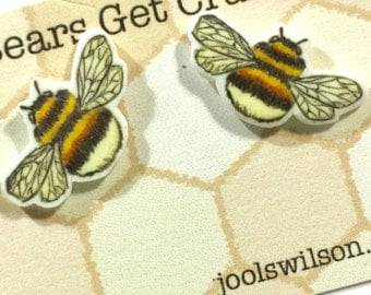 REDUCED! Discontinued: Bumble Bee Earrings