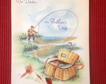 Vintage Father's Day card ( Unused )