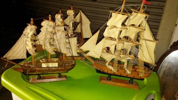 Three Ship Models/Home Decor/Collectible/Nautical Decor/Boats/Models