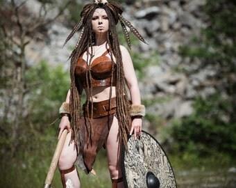 Leather armor for woman worrior