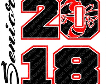 Senior 2018 SVG, DXF, EPS Cut File for Cameo and Cricut, Senior Svg, Graduation Svg, Class of Svg, 2018 Svg, Hornets Svg, Hornets Cut File