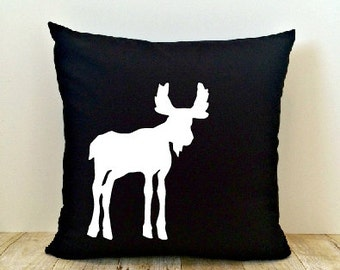 Animal Pillow Cover, Moose, Deer, Bear, Adventure, Outdoors, Cabin, Wilderness, Explore, Camping