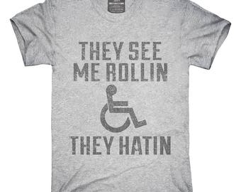 Funny Handicap Wheelchair T-Shirt, Hoodie, Tank Top, Gifts