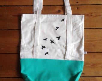 shopper bag birds