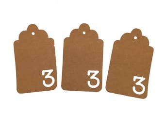 Number Three Gift Tags