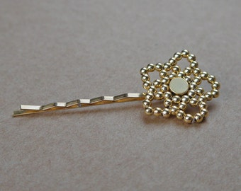 Dahlia Hairclips - 14k gold-filled beads