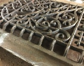 Arched Antique Wall Grate, Architectural Salvage, some paint