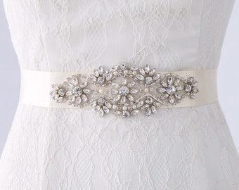 Wedding Dress Belts, Bridal Sash Belt, Bridal Belts, Wedding Gown Belt, Swarovski Crystal Bridal Belts, Wedding Belts and Sashes,Bridal Sash