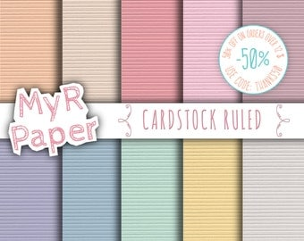 "SALE 50% digital Paper: ""Cardstock Ruled"" with Pastel Colors -  Green, Yellow, Beige, Pink, Violet, Blue, Purple, Orange"