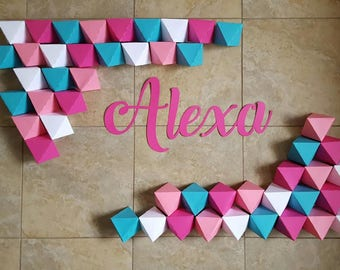 Custom Listing for Jana, Geometric Shape Backdrop, Custom Made, Geometric Pyramid