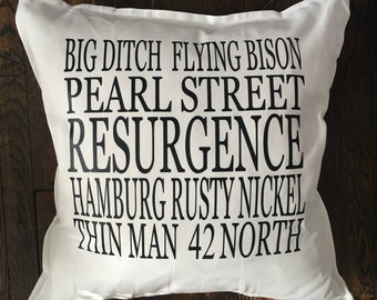 Buffalo Brew Pillow Cover (white or gray)