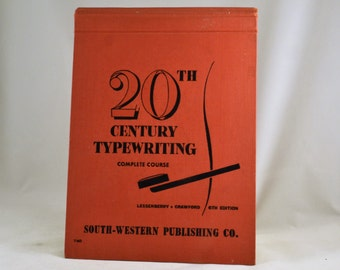 Typewriter Book - 20th Century Typewriting Complete Course - 1952 - 6th Edition MCM Typing Manual