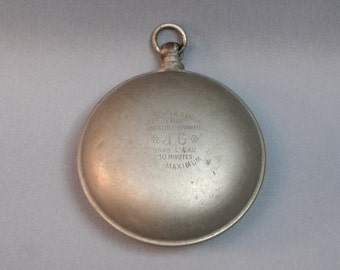 Antique French J. GAUQUELIN metal portable pocket hand warmer, To be boiled in water