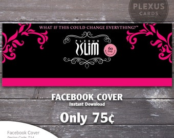 Plexus Facebook Cover Image Fancy Design - Instant Download