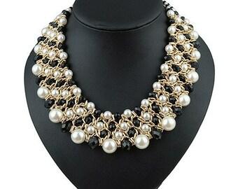 Luxury Collars Vintage Ethnic Crystal Beads  Retro sapphire jewelry Necklaces  #6