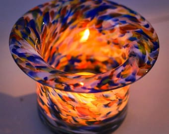 Hand Blown Glass Votive Candle Holders
