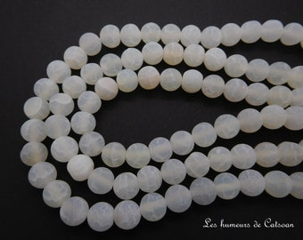 50 Perles agates craquelées veine de dragon  8 mm jaune  corail ou blanc/ Crackled agate beads dragon vein 8 mm yellow/coral /white