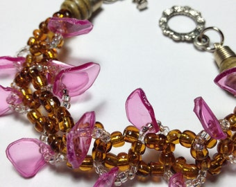 Purple chips bracelet