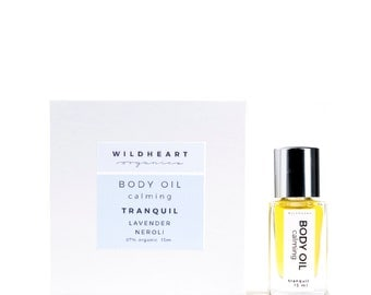 save over 38% ,Organic Calming Body Oil, Therapy Mini, vegan