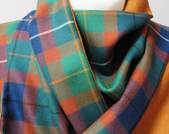 Amnesty International pure wool tartan scarf!  Standing up for human rights. Hand made in the UK.