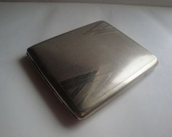 Collectible Vintage Silver Tone, Metal Cigarette Case, Business Card Case   Made In Austria