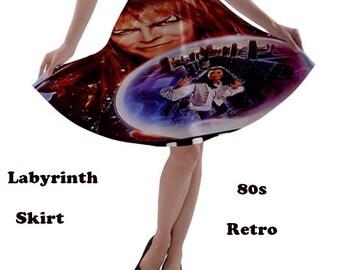 Labyrinth Skirt, skirt, 70s, david bowie, glam rock, music, 80s music, 70s music, rock, fashion, films