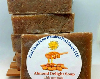 Almond Goat Milk Soap - Almond Soap - Almond Delight Soap - Handmade Almond Soap - Goat Milk Almond Soap - Almond Delight Goat Milk Soap