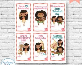 Moana Valentines, Moana Valentine's Day Cards