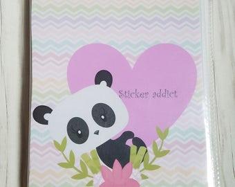 Panda Planner sticker book. sticker addict sticker storage. 4.50x 6.00 Sticker storage, book, album.