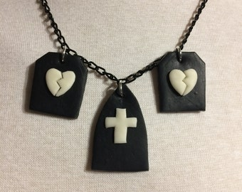 Graveyard Glow-in-the-Dark Necklace