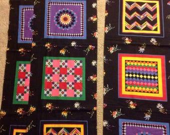 Vintage Cheater cloth quilt squares sampler blocks