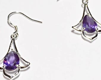 Amethyst Dangle Earrings On Sale