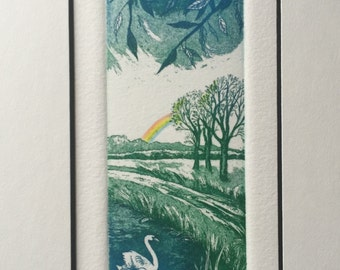 Spring. Original hand-pulled etching & aquatint. Seasons.