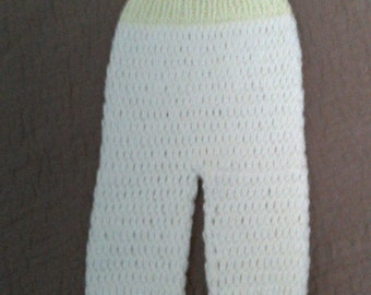 Crochet baby long pants.