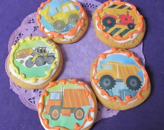 Construction Dumptruck Trucks sugar cookies