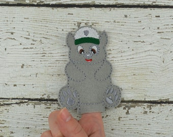 Rocky Felt Finger Puppet - Pretend Play - Party Favors - Birthday - Paw Patrol - Travel Toy - Quiet Game - Quiet Play