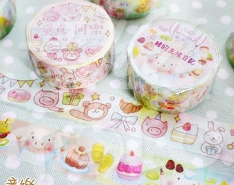 Piggy washi tape by Hank and Bear Ingrid