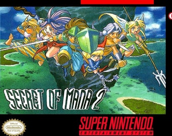 SNES Secret of Mana 2 - Custom made Box and Insert NO Game Included