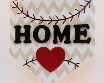 Baseball Home Sign