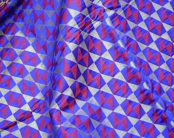Tejido de brocado Tejido indio Vestido de boda Traje de tela Artesanía Tejido Vestido Material