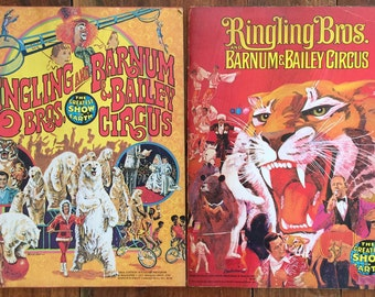 Set of 2 Ringling Bros. and Barnum & Bailey Circus Posters 1975 and 1977