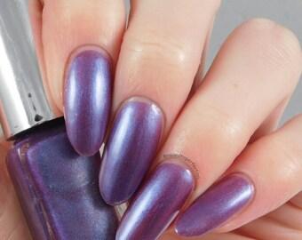 SALE, Royal Purple Nail Polish, Vegan Nail Polish, Vegan Nail Varnish, Handmade Nail Polish