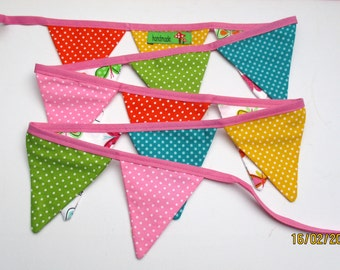Pennant mini made of cotton fabric with stars for Windows