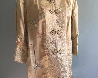 Vintage cherry blossom geisha coat