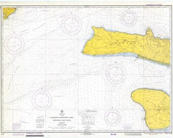 Oahu, Molokai and Lanai Map - Hawaii Channels - 1972