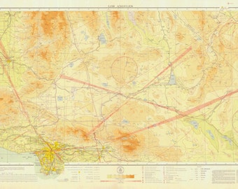 Los Angeles Aeronautical Map 1932
