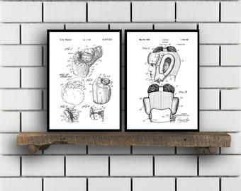 Boxing Patent Prints, Boxing Set of TWO, Boxing Invention Patent, Boxing Poster, Boxing Print, Boxing, Boxing Bag