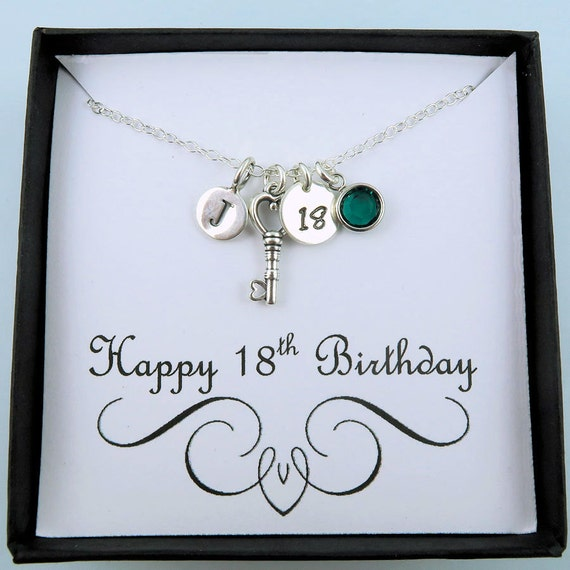 Personalized 18th Birthday Necklace With Message Card 18th